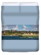 Sydney Harbour Panorama Duvet Cover