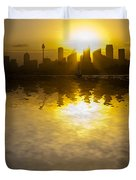 Sydney Harbour Sunset Abstract Duvet Cover