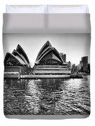 Sydney Opera House-black And White Duvet Cover