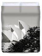 Sydney Opera House Black And White Duvet Cover