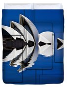 Sydney Opera House Collage Duvet Cover