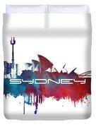 Sydney Skyline City Blue Duvet Cover