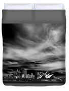 Sydney Skyline With Dramatic Sky Duvet Cover