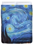 Syfy- Starry Night In Mordor Duvet Cover