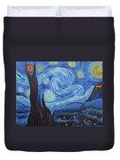 Syfy- Starry Night In Mordor Duvet Cover