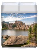 Sylvan Lake View Duvet Cover