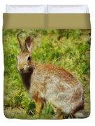 Symbol Of The Rabbit Duvet Cover