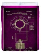 System Of Electrical Distribution Patent Drawing 2c Duvet Cover