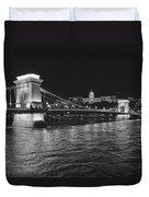Szechenyi Chain Bridge Budapest Duvet Cover