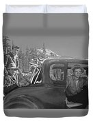 T-04902 Travelling To Climb In Style 1955  Duvet Cover