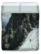 T-504102 1st Ascent On Mt. Shuksan Duvet Cover