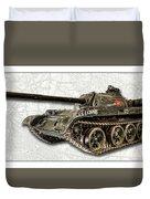T-54 Soviet Tank W-bg Duvet Cover