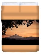 Mt. Hood At Sunset Duvet Cover
