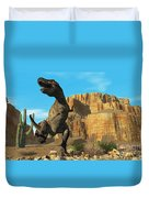 T-rex Duvet Cover by Corey Ford