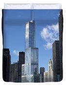 T Tower Chicago River Duvet Cover