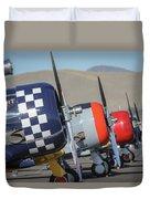 T6 Flight Line At Reno Air Races Duvet Cover by John King