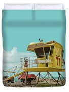 T7 Lifeguard Station Kapukaulua Beach Paia Maui Hawaii Duvet Cover