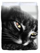 Tabby Cat Selective Color Duvet Cover
