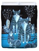 Tabby Family Duvet Cover