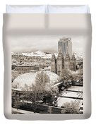Tabernacle And Temple Duvet Cover