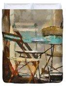 Table Bleue Au Soleil Duvet Cover