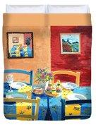 Table For Four Duvet Cover