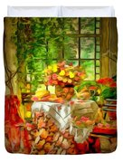 Table For Two In Ambiance Duvet Cover