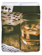 Table Games And The Wild West Saloon  Duvet Cover