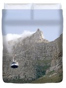 Table Mountain Cable Car Duvet Cover