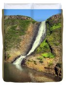 Table Mountain Waterfalls Duvet Cover