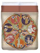 Table Of Planets Duvet Cover