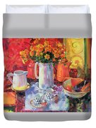 Table Reflections Duvet Cover