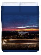 Table Rock Lake Night Shot Duvet Cover