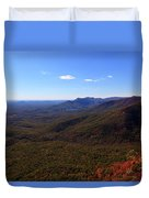 Table Rock Mountain From Caesars Head State Park In Upstate South Carolina Duvet Cover