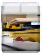 Table Saw Duvet Cover