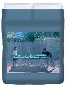 Table Tennis Duvet Cover