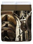 Tac Room Saddles Duvet Cover by John Greim