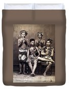Tahiti: Men, C1890 Duvet Cover