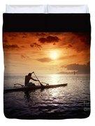 Tahiti, Papeete Duvet Cover