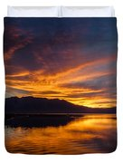 Tahoe Sunset Luminosity Duvet Cover