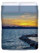 Tahoe Sunset Duvet Cover