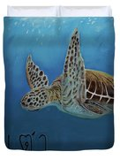 Tahow Sea Turtle Duvet Cover