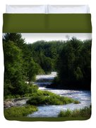 Tahquamenon Lower Falls Upper Peninsula Michigan 12 Duvet Cover
