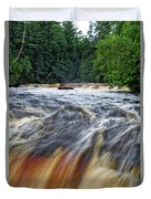 Tahquamenon Lower Falls Upper Peninsula Michigan Vertical 01 Duvet Cover