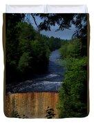 Tahquamenon Lower Falls Upper Peninsula Michigan Vertical 07 Duvet Cover
