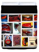 Tail Light Collage Number 1 Duvet Cover