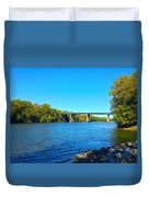 Tail Race Canal Duvet Cover