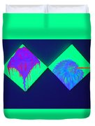 Tailed Flower And Kiwi Duvet Cover