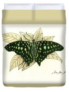 Tailed Jay Butterfly Duvet Cover