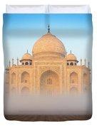 Taj Mahal In The Mist Duvet Cover